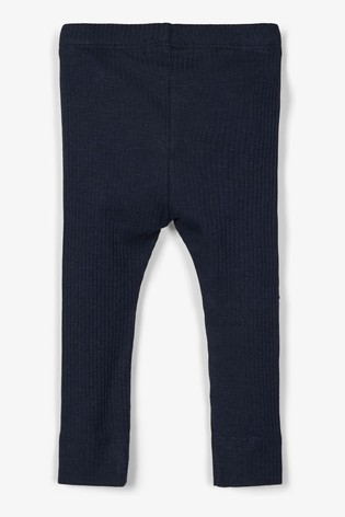 Name It Navy Ribbed Baby Leggings