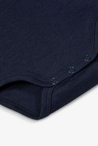 Name It Navy Stripe and Car Print Short Sleeve Bodysuit 3 Pack