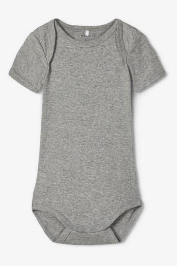 Name It Black, White and Grey Short Sleeve Bodysuit 3 Pack