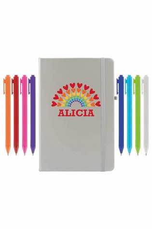 Personalised Notebook with Set of 8 Pens by Ice London