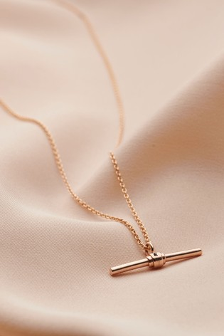 Personalised Albert T Bar Necklace by Posh Totty