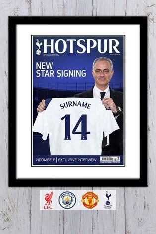 Personalised Football Club Magazine Framed Print by Personalised Football Gifts
