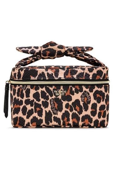 Victoria's Secret Brown Leopard Runway Train Case