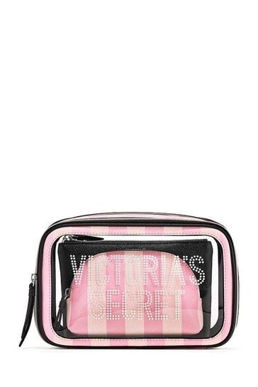 Victoria's Secret Love Backstage Nested Trio Cosmetic Bags