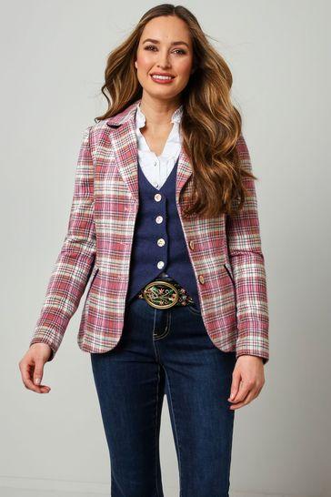 Joe Browns Pink Rose Check Jacket