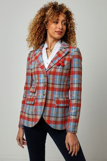 Joe Browns Orange Funky Check Jacket
