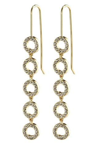 PILGRIM Gold Plated Tessa Crystal Drop Earrings