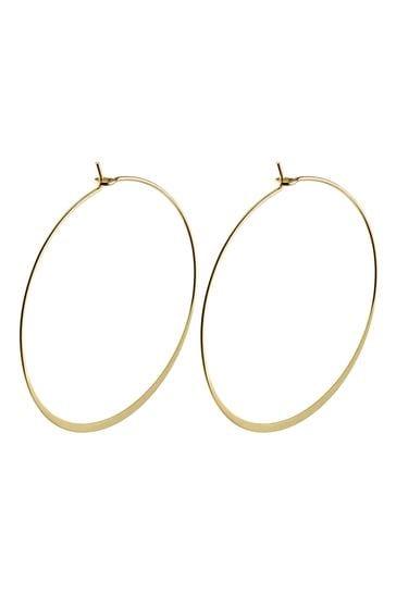 PILGRIM Gold Plated Tilly Large Hoop Earrings