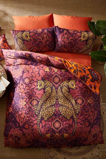 Joe Browns Reflective Leopard Reverse Duvet Cover Set