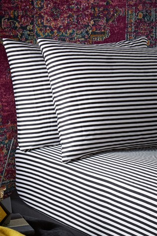 Joe Browns Brilliant Printed Striped Bedding Pillow Case Set