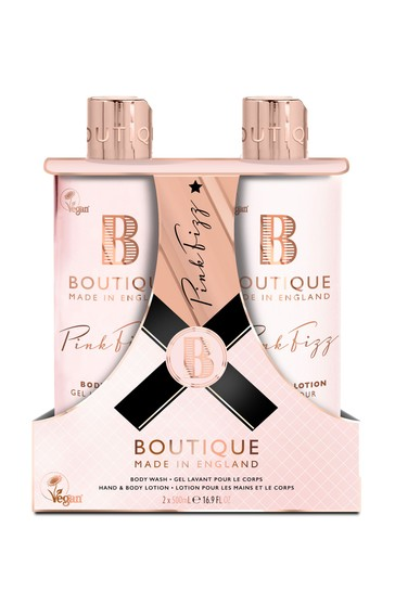 Boutique from The English Bathing Company Pink Fizz Body Care Duo Set