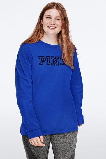 Victoria's Secret PINK Long Sleeve Campus Tee