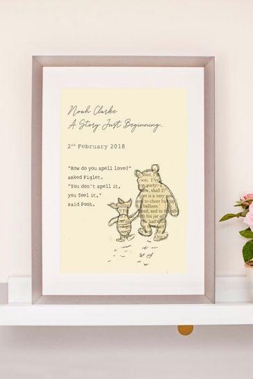 Personalised Winnie The Pooh Nursery Print by Jonny's Sister