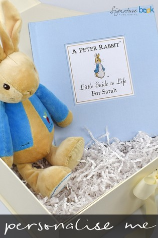 Personalised Peter Rabbit Little Guide To Life Book and Plush Toy Gift by Signature Book Publishing