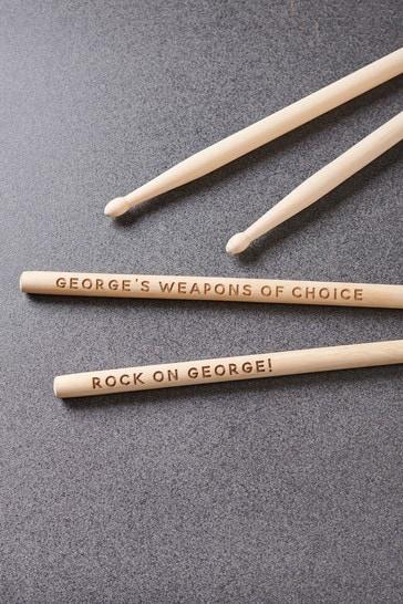 Personalised Wooden Drum Sticks by Oakdene Designs