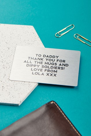 Personalised Text Wallet Card by Oakdene Designs