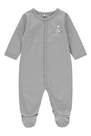Name It Grey Giraffe Print 2 Pack Sleepsuit