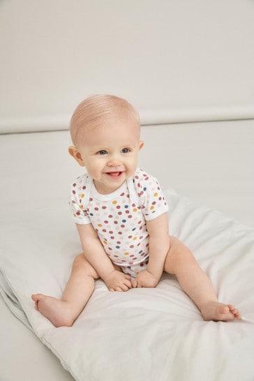 Name It Pink Unicorn and Polka Dot Short Sleeve Bodysuit 3 Pack