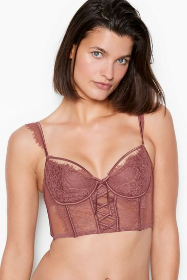 Victoria's Secret Wicked Unlined Laceup Balconette Bustier