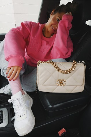 In The Style Pink Lorna Luxe Applique Oversized Fit Sweatshirt