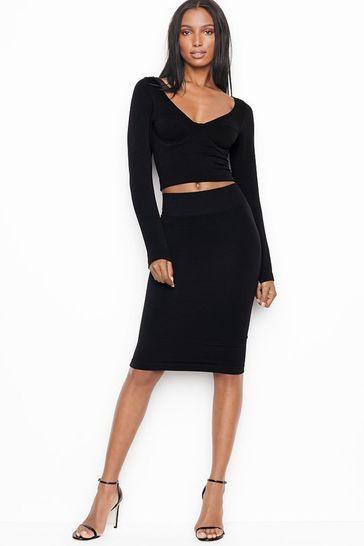 Victoria's Secret Ribbed Midi Skirt