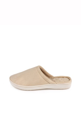 Totes Neutral Suedette Mule Slippers