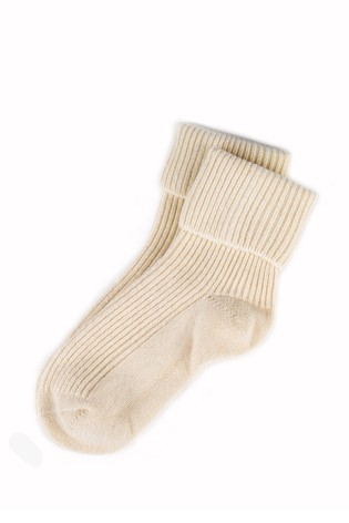 Totes Cream Cashmere Bed Socks