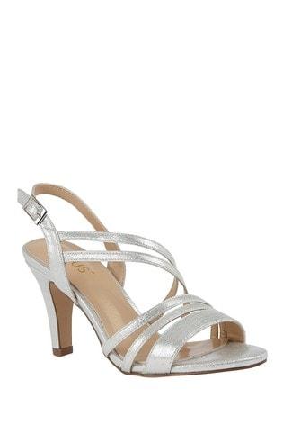 Lotus Footwear Silver SlingBack OpenToe Sandals