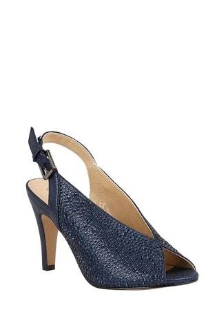 Lotus Footwear Blue SlingBack PeepToe Shoes