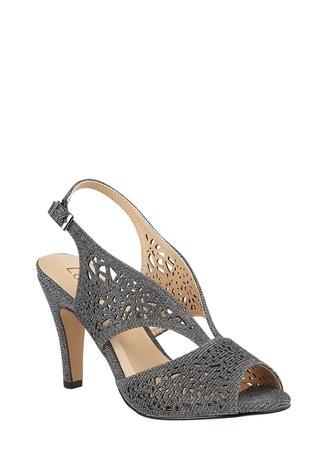 Lotus Footwear Grey SlingBack PeepToe Shoes