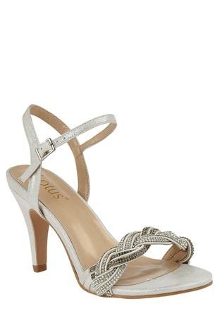 Lotus Footwear Silver OpenToe Sandals
