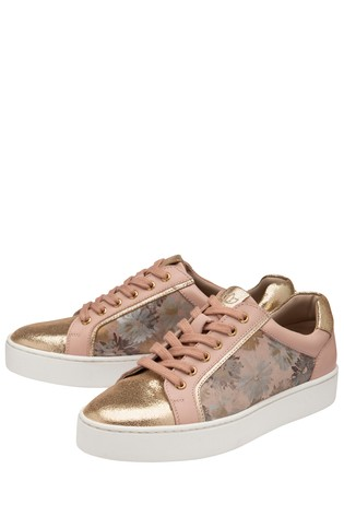 Lotus Footwear Pink Leather Zip Up Casual Shoes
