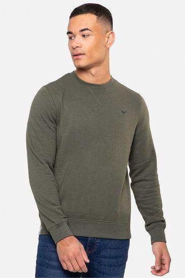 Threadbare Khaki Satsuma Crew Neck Sweatshirt