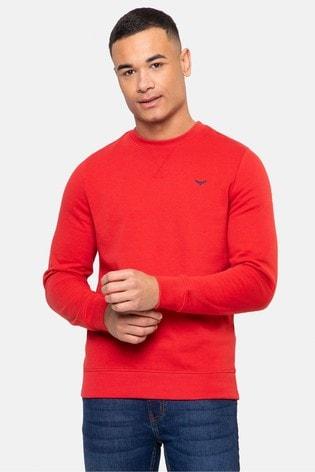 Threadbare Red Satsuma Crew Neck Sweatshirt