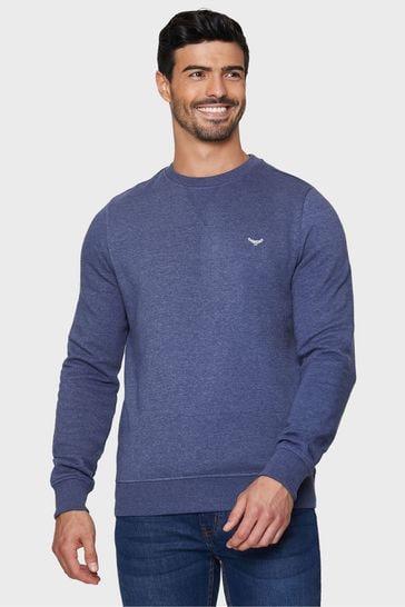 Threadbare Blue Satsuma Crew Neck Sweatshirt