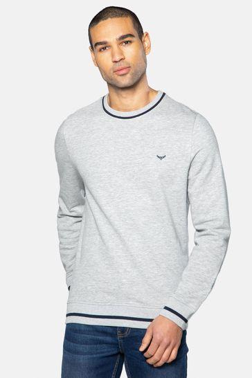 Threadbare Grey Sam Crew Neck Sweatshirt