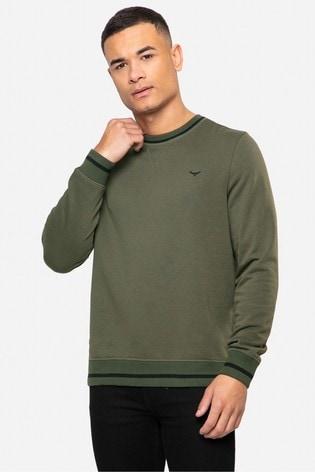 Threadbare Khaki Sam Crew Neck Sweatshirt