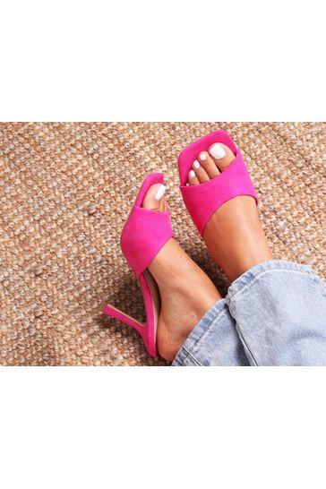 Linzi Pink Penelope Slip On Square Toe Mule