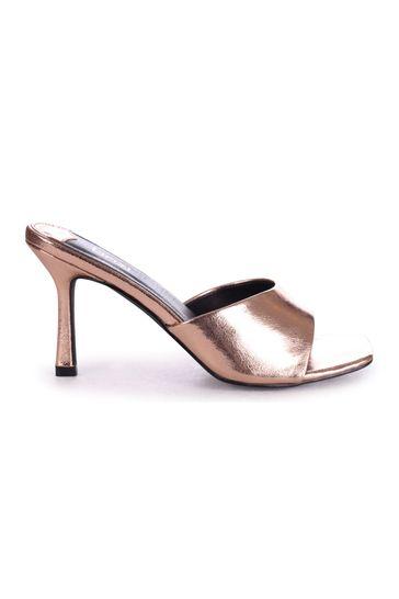 Linzi Rose Gold Penelope Slip On Square Toe Mule