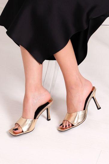Linzi Gold Penelope Slip On Square Toe Mule