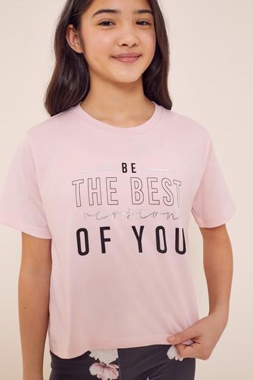Lipsy Pink Sports T-Shirt