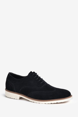 Threadbare Black London Brogue Shoe