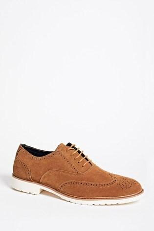 Threadbare Brown London Brogue Shoe