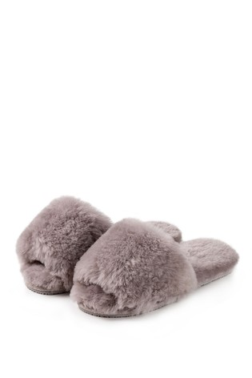 Just Sheepskin Dove Lily Open Toe Slider Slipper