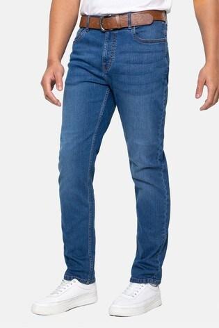 Threadbare Light Blue Penrith Belted Straight Leg Jeans