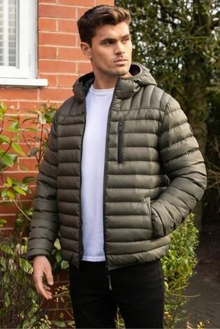 Threadbare Khaki Fetlar Padded Jacket