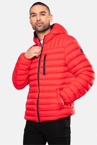 Threadbare Red Fetlar Padded Jacket