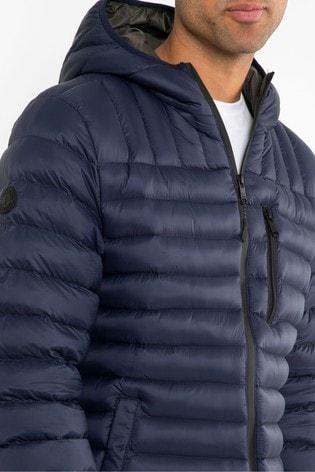 Threadbare Navy Fetlar Padded Jacket
