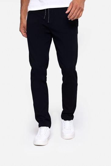 Threadbare Black Carden Casual Trousers