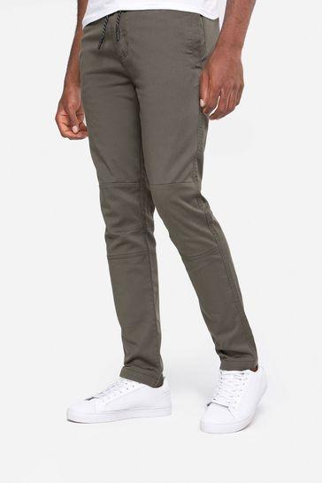 Threadbare Khaki Carden Casual Trousers